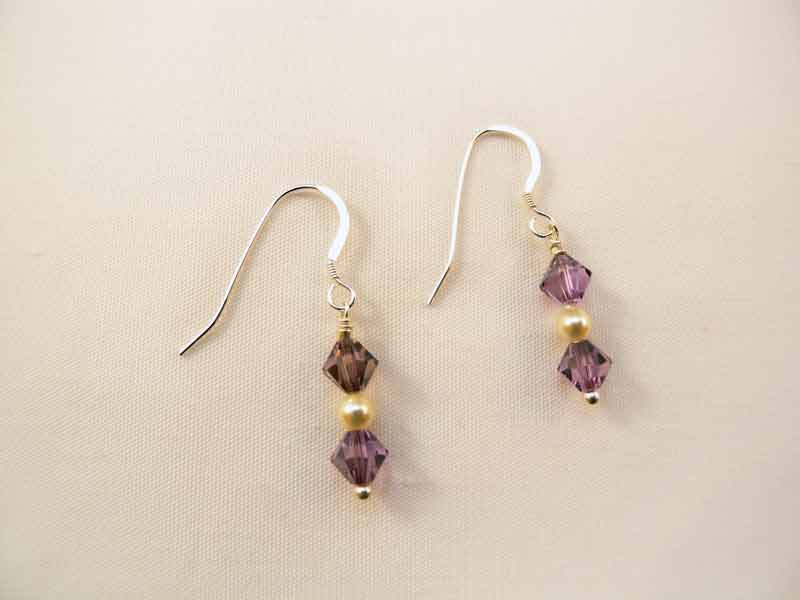 Amethyst Moon Earrings